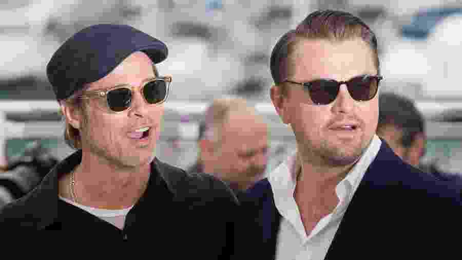 Brad Pitt e Leonardo DiCaprio no tapete vermelho do Festival de Cannes - Samir Hussein/WireImage