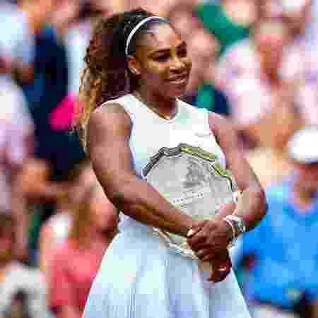 Serena Williams após jogo da final feminina de Wimbledon 2019 - Reprodução/Instagram