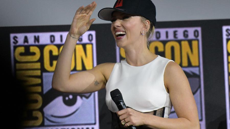 Scarlett Johansson na Comic-Con de San Diego em 2019 - AFP