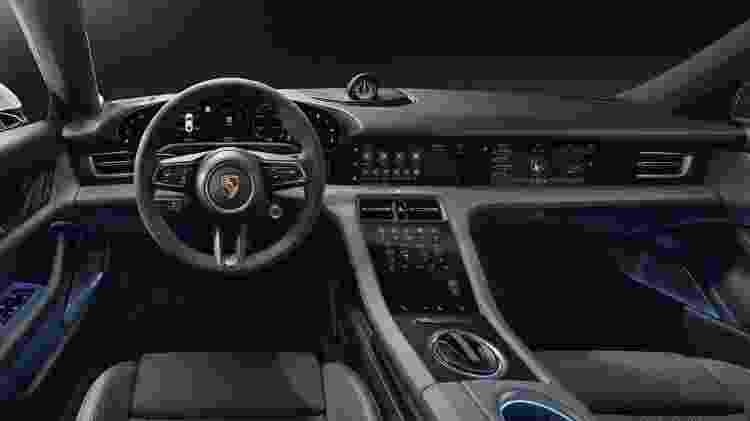 Porsche Taycan (internamente) - Divulgação/Porsche - Divulgação/Porsche