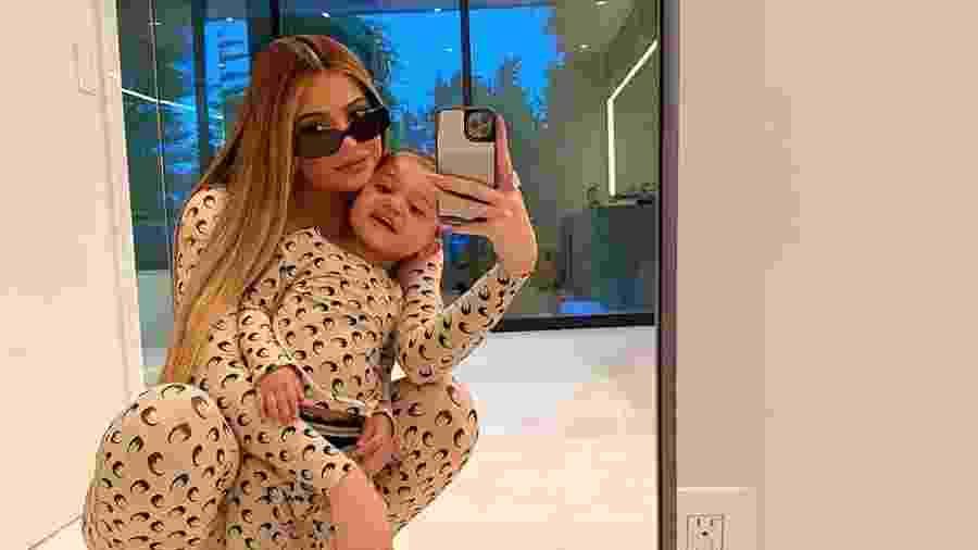 Kylie Jenner com a filha Stormi - Reprodução/Instagram