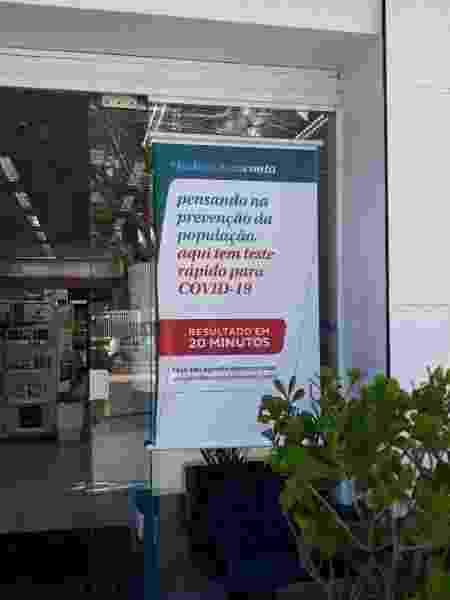 teste rápido farmácia covid-19 coronavírus  - Camila Brandalise/UOL - Camila Brandalise/UOL