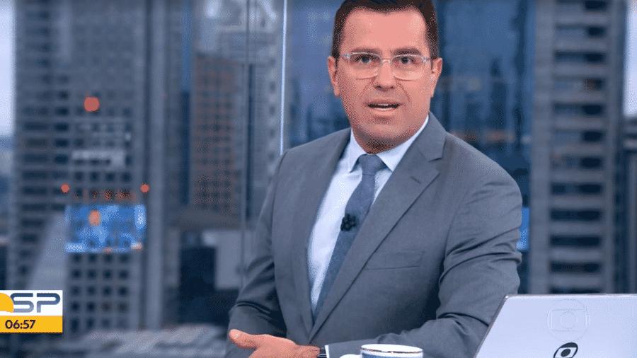 """Rodrigo Bocardi, apresentador do """"Bom Dia São Paulo"""" - Reprodução/TV Globo"""