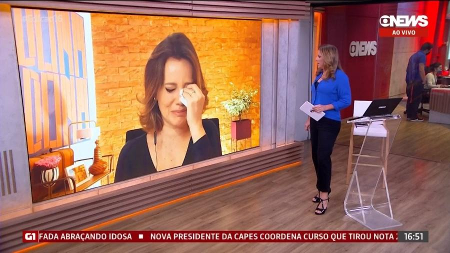 """Natuza Nery se emocionou durante o """"Jornal GloboNews"""" - Reprodução/GloboNews"""