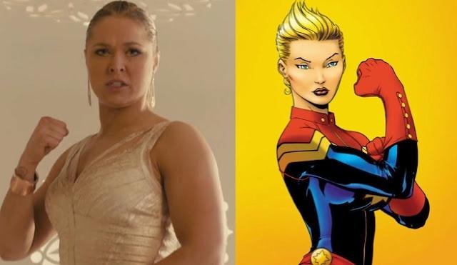 Ronda Rousey, que está em campanha para viver a personagem Ms. Marvel (Senhorita Marvel) no cinema