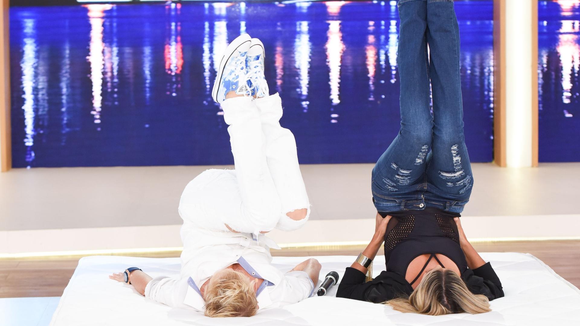 Xuxa e Ticiane Pinheiro fazem o quadradinho de oito