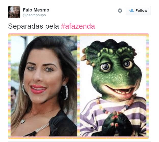 4.dez.2015 - Internauta compara Ana Paula Minerato com personagem da