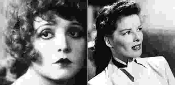 As atrizes Clara Bow e Katharine Hepburn - Reprodução/Pinterest - Reprodução/Pinterest