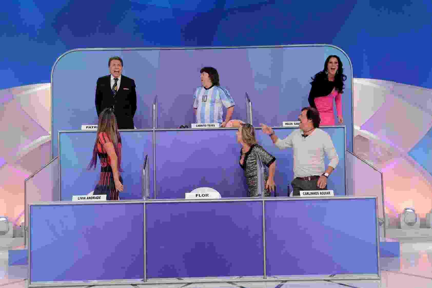 """Silvio Santos leva choque no """"Jogo dos Pontinhos"""", quadro de seu programa que vai ao ar neste domingo (15), no SBT - Lourival Ribeiro/SBT"""