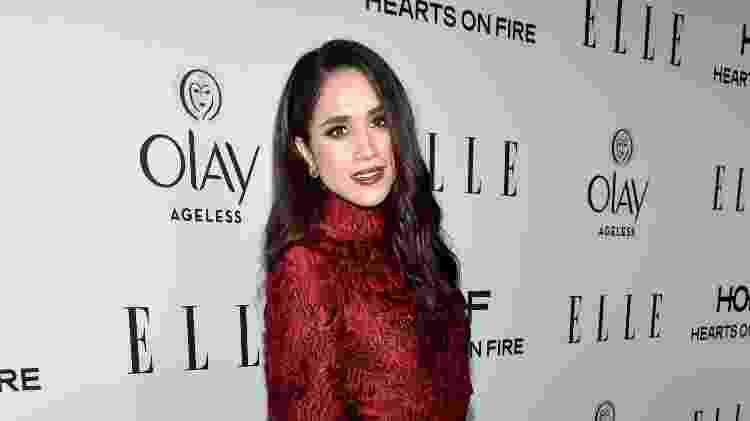 """Meghan Markle comparece ao jantar da revista """"Elle"""" para homenagear as mulheres da TV americana, em West Hollywood, na Califórnia - Getty Images - Getty Images"""
