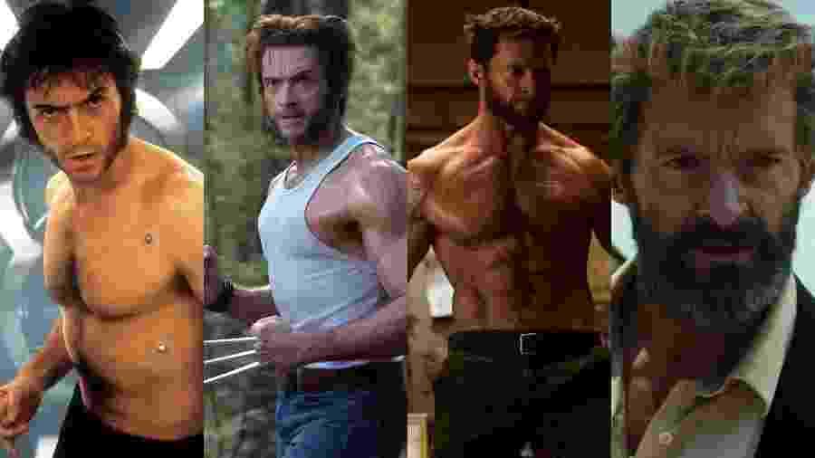 Cena do filme X-Men, O filme (2000), X-Men: O Confronto Final (2006), Wolverine - Imortal (2013) e Logan (2017) - Reprodu??o/Montagem