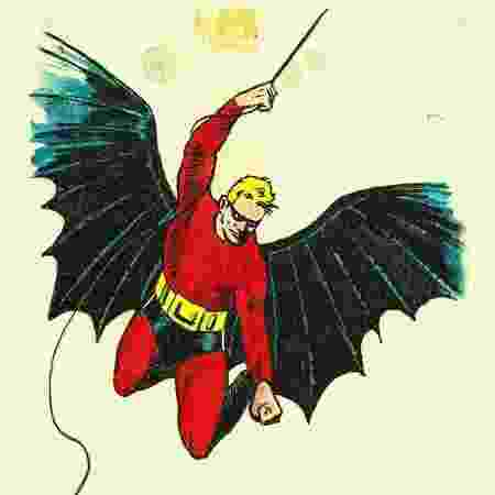 Visual inicial do Batman, elaborado por Bob Kane - Reprodução