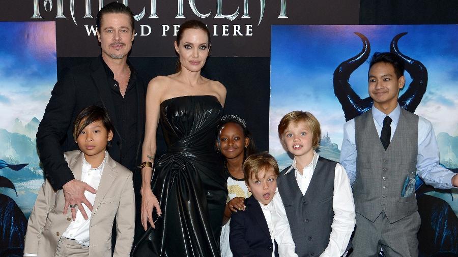 Brad Pitt, Angelina Jolie e família - Charley Gallay/Getty