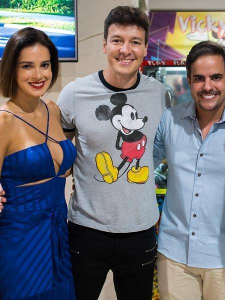 Os agora vizinhos Vera Viel, Rodrigo Faro, Simone e Kaká Diniz - Diogo Alexandre/Brazil News Internacional