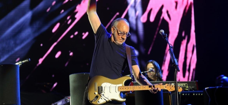 O guitarrista Pete Townshend durante o show do The Who no Rock in Rio - Agnews