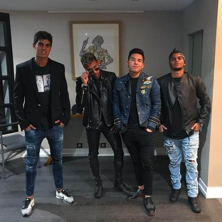 Álvaro Costa, Neymar, Gil Cebola e Cris Guedes - Reprodução/Instagram