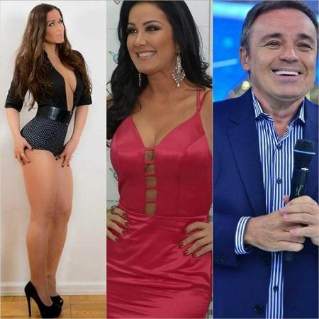 Nana Gouvês, Helen Ganzarolli e Gugu: os crushs do Silvio - Divulgação/Reprodução Montagem/UOL