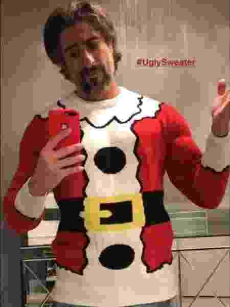 Marcos Mion mostra seu suéter de Natal - Reprodução/Instagram