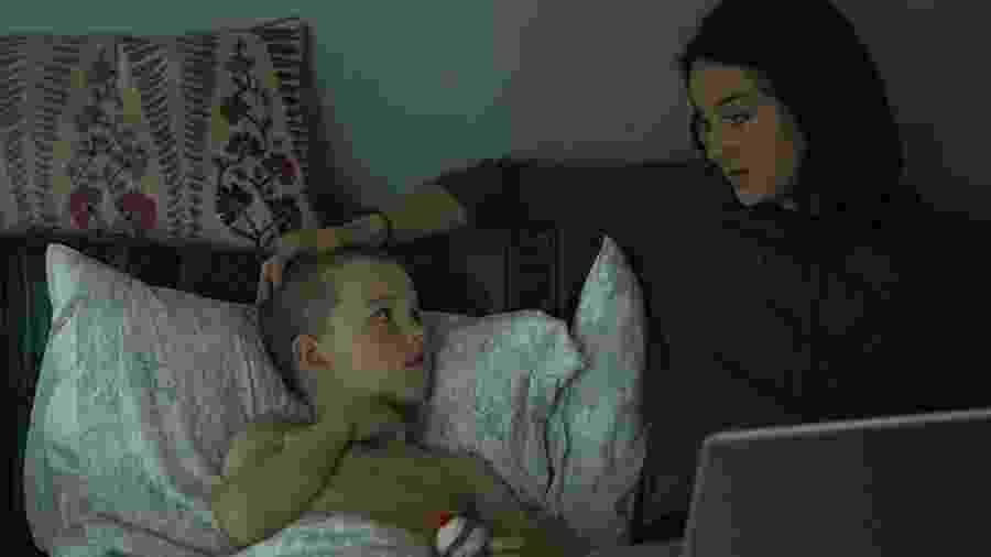 """Iain Armitage e Shailene Woodley em cena de """"Big Little Lies"""" - Divulgação"""