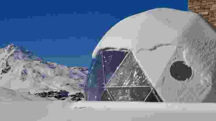Um iglu para dormir - Divulgação/Val Thorens - Divulgação/Val Thorens