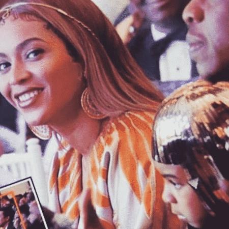 Beyoncé e a filha, Blue Ivy, no Wearable Art Gala - Reprodução/Instagram