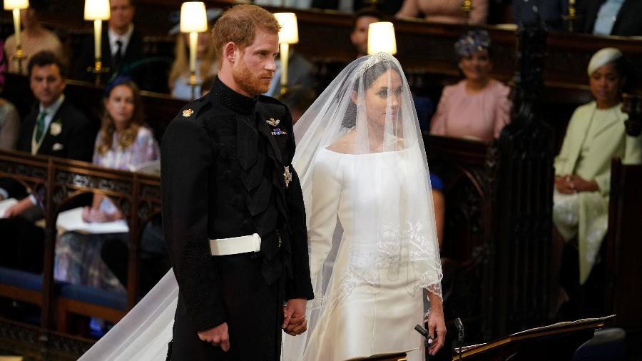 principe harry e meghan markle no altar - Dominic Lipinski/Reuters
