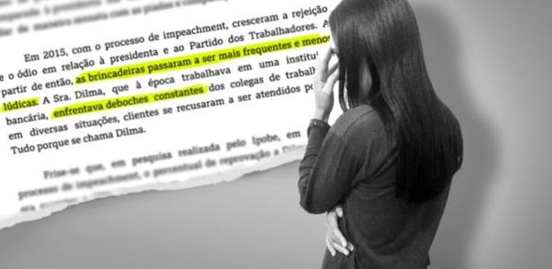 Dilma P., de 37 anos, pede mudança de seu nome de batismo pelas chacotas que vem sofrendo desde que ex-presidente sofreu impeachment.