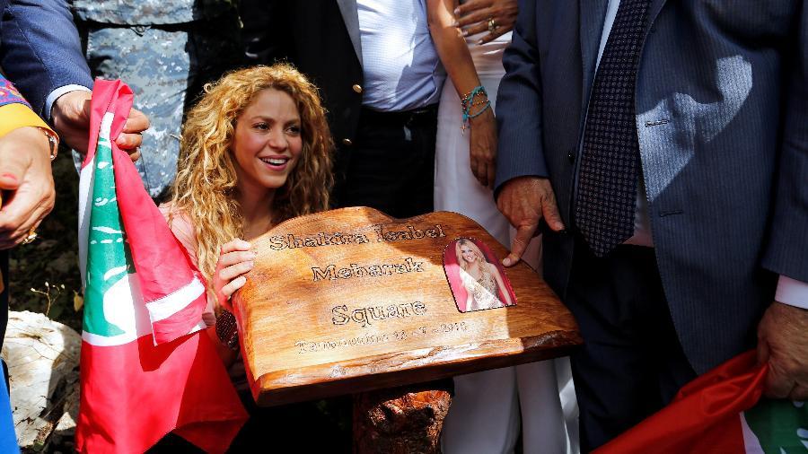 Shakira durante visita em reserva no Líbano - Jamal Saidi/Reuters