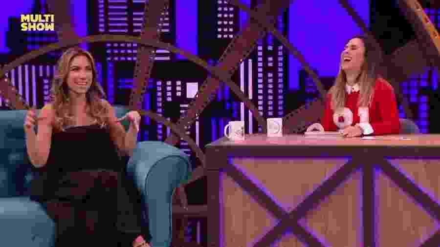"""Patricia Abravanel diz a Tatá Werneck no """"Lady Night"""" que Silvio Santos malhava com cueca especial - Reprodução/Multishow"""