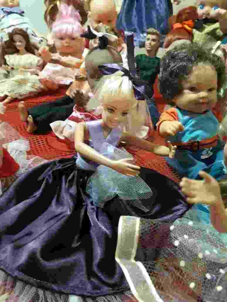 Confira algumas das bonecas já reformadas pela iniciativa - Acervo pessoal