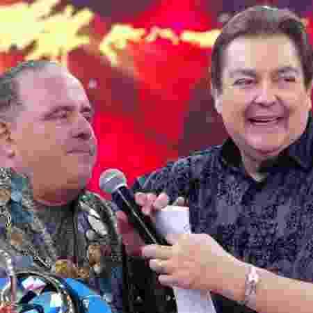 """Leo Jaime conversa com Faustão após vencer a """"Dança dos Famosos"""" 2018 - Reprodução/TV Globo - Reprodução/TV Globo"""