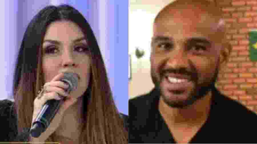 Simony briga com ex, o jogador Diego Souza, por conta da pensão da filha - Reprodução/RedeTV!/Reprodução/Arquivo Pessoal/Montagem UOL