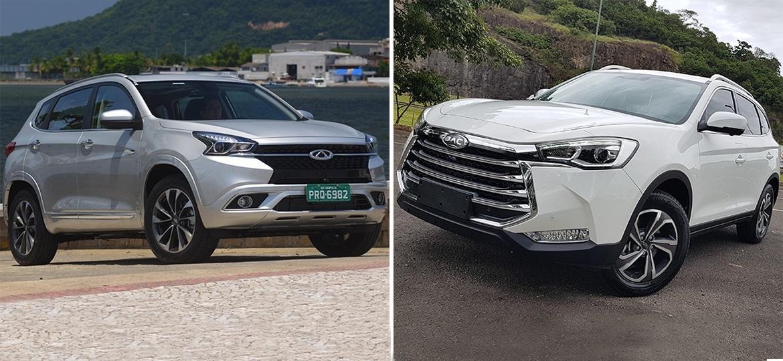 Chery Tiggo 7 e JAC T80: marcas chinesas também podem fazer SUVs de luxo - Arte UOL Carros