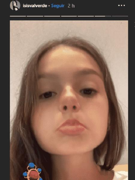 Isis Valverde com filtro de bebê - Reprodução/Instagram