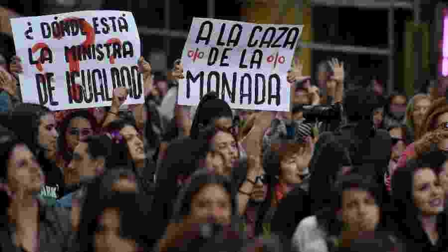 Mulheres protestam contra grupo de estupradores na Espanha - AFP