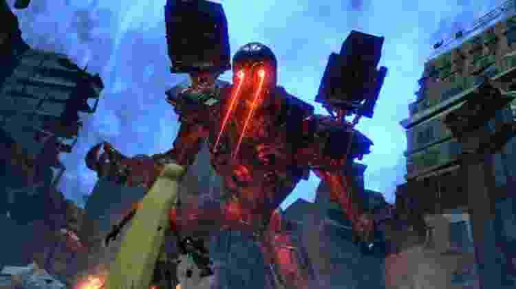 Chefão gigante meio demônio, meio robô, faz parte do pacote - Reprodução
