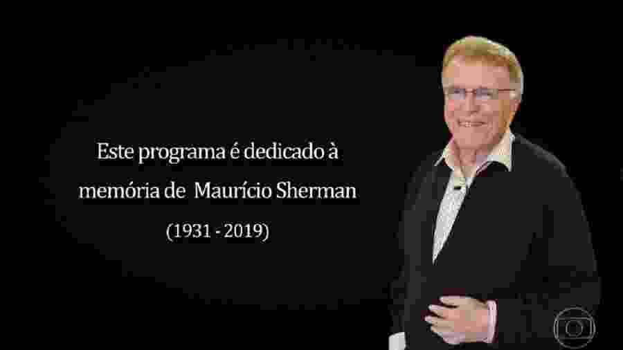 Zorra presta homenagem a Maurício Sherman - Reprodução/TV Globo