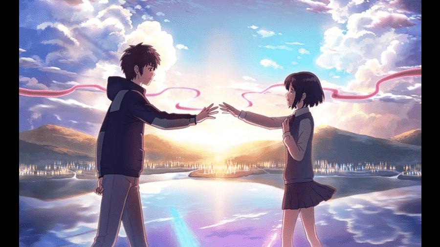 Cena do anime Your Name - Reprodução