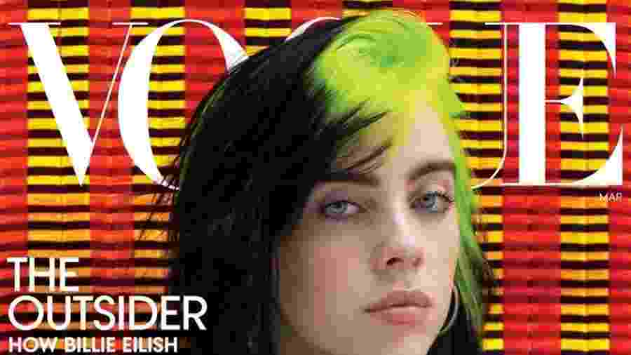 """Billie Eilish na capa da revista """"Vogue"""" americana - Divulgação"""