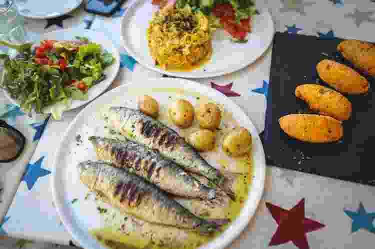 Receitas portuguesas: sardinhas grelhadas, bolinhos de bacalhau e bacalhau a brás - Getty Images - Getty Images