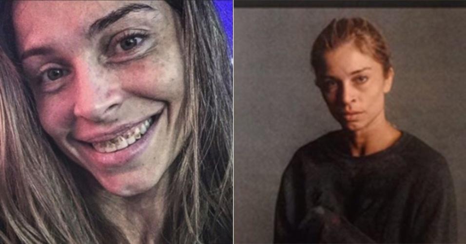 """Grazi Massafera vai aparecer assim nos próximos capítulos de """"Verdades Secretas"""". Sua personagem Larissa está cada vez mais afundada nas drogas e vai ficar em determinado momento com a aparência irreconhecível"""