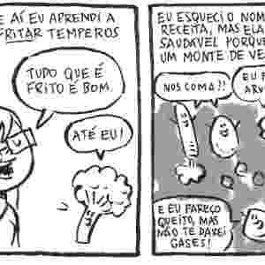 """Quadrinho de Samanta Flôor para a coletânea em HQ """"Guia Culinário do Falido"""" - Reprodução"""