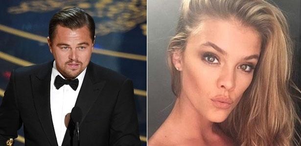O ator Leonardo DiCaprio e a namorada, a modelo Nina Agdal   - Getty Images/Reprodução/Instagram