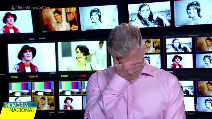 """Miguel Falabella chora ao homenagear Marília Pêra no """"Vídeo Show"""" - Reprodução/TV Globo"""