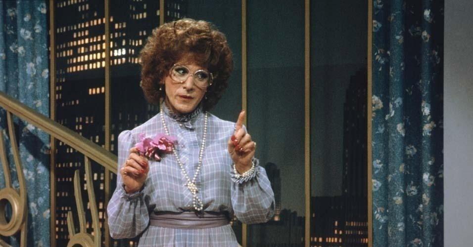 "Dustin Hoffman se finge de mulher no filme ""Tootsie"""