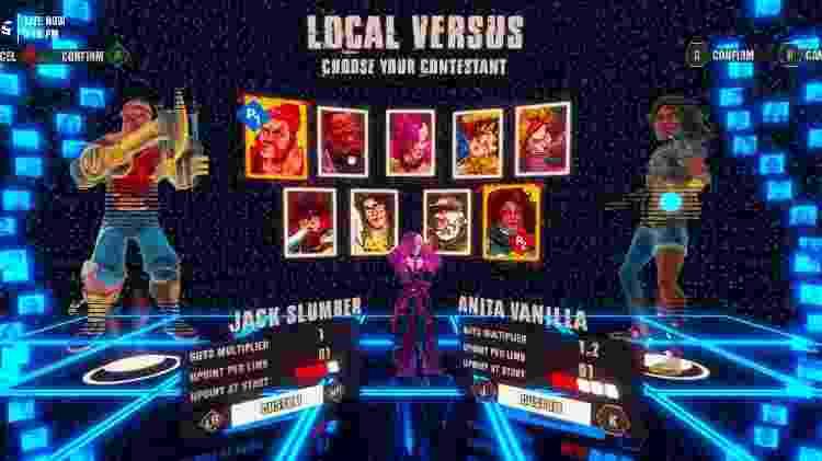 """""""GUTS"""" capricha na variedade de personagens, com lutadores de vários estilos e tipos físicos - Divulgação"""