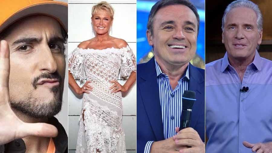Marcos Mion, Xuxa, Gugu e Justus terão temporadas na Record em 2018 - Montagem UOL