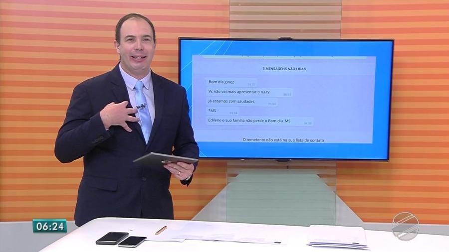 """Ginez Cesar, apresentador do """"Bom Dia MS"""", anuncia sua saída da TV Morena, afiliada da TV Globo - Reprodução/TV Globo"""