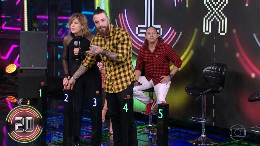 """Campainha do """"Ding Dong"""" falha no programa """"Domingão do Faustão"""" - Reprodução/TV Globo"""