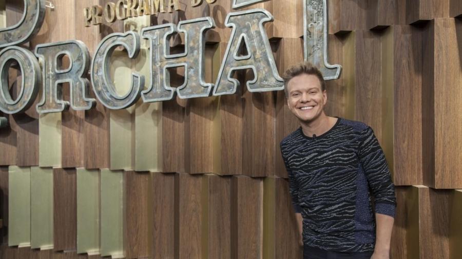 "Michel Teló no ""Programa do Porchat"" - Marcus Godoy/Record TV"